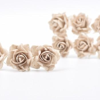 Υφασμάτινο τριαντάφυλλο πουά  9τεμ.