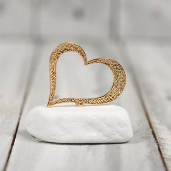 Μάρμαρο χρυσή καρδιά