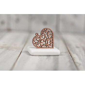Μάρμαρο ξύλινη καρδιά
