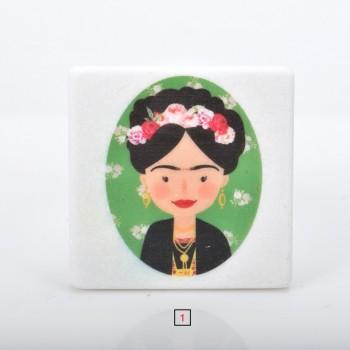 Marble printed Frida Kahlo