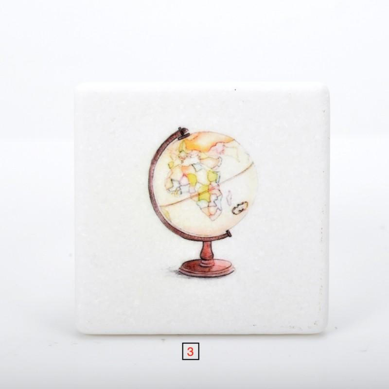 Marble printed Travel theme