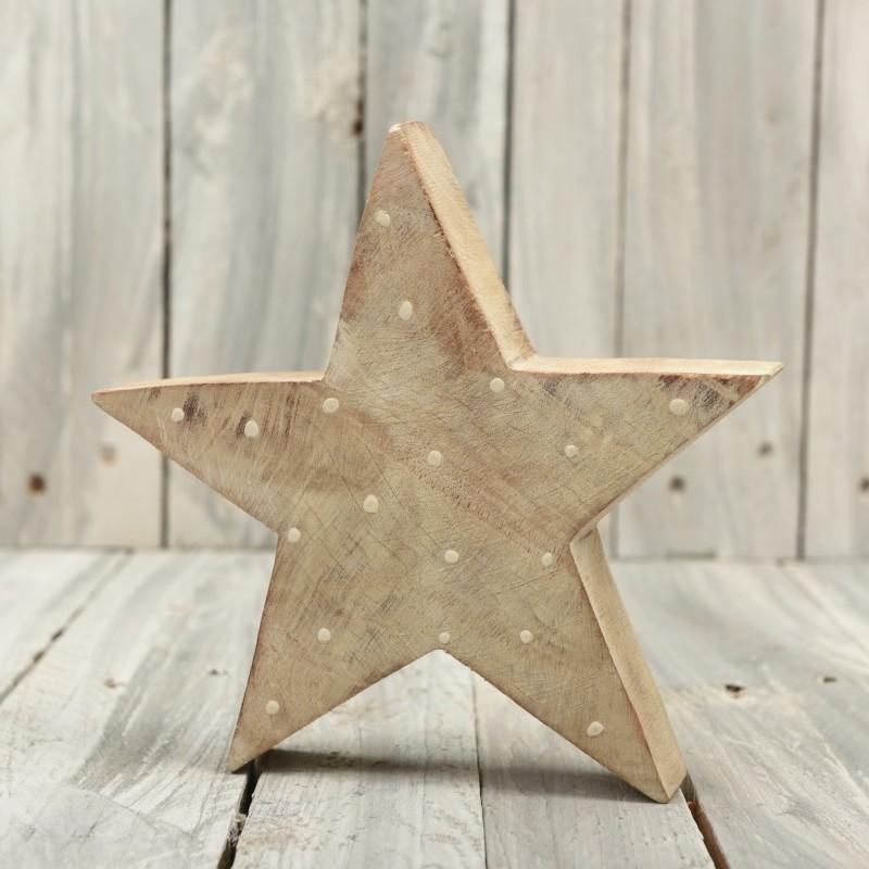 Ξύλινο αστέρι διακοσμητικό 20*20cm