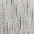 Μεταλλικός κάκτος λευκός 42*35cm