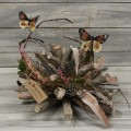 Ξύλινο διακοσμητικό με πεταλούδες 30cm