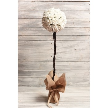 Δεντράκι για στολισμούς λευκό, με λουλούδια λατέξ 85cm