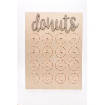 Επιτραπέζια ξύλινη βάση για Donuts 12 θέσεων 43*58cm