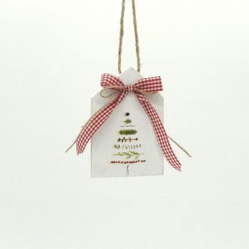 Χριστουγεννιάτικο στολίδι ξύλινο σπιτάκι