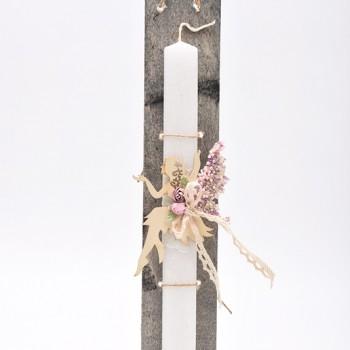 Λαμπάδα με θέμα νεράιδα 7*45cm