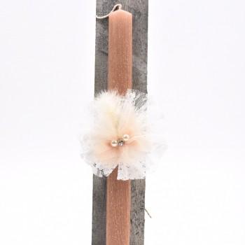 Λαμπάδα με λουλούδια 7*45cm