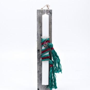 Λαμπάδα με μεταλλικό κρεμαστό 7*45cm