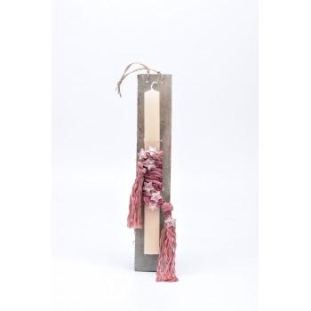 Λαμπάδα με θέμα  αστερακι 7*45cm