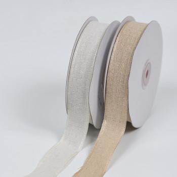 Κορδέλα λινή με τελείωμα 2,5cm