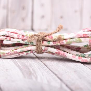 Κορδόνι χάρτινο τυπωμένο με λουλούδια   4m
