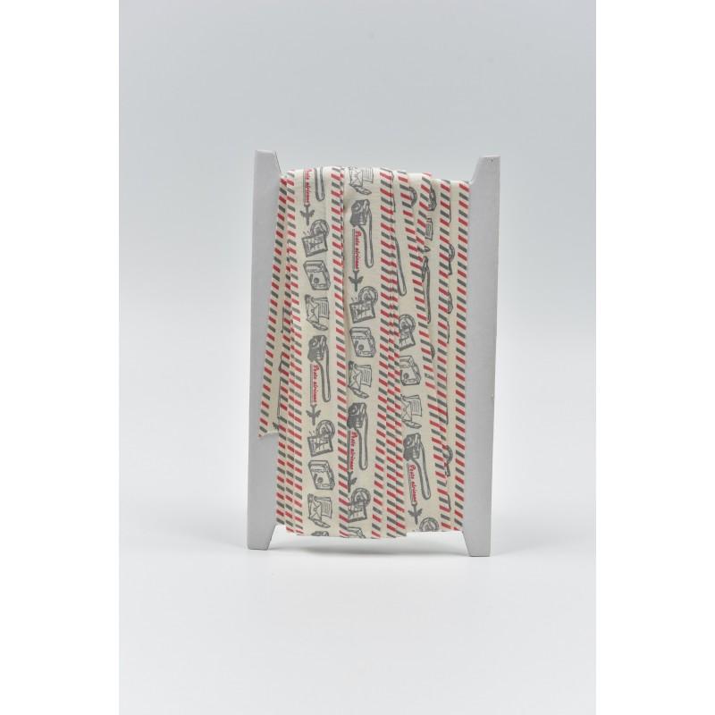Κορδέλα τυπωμένη με γραμματόσημα 2.5cm 10m