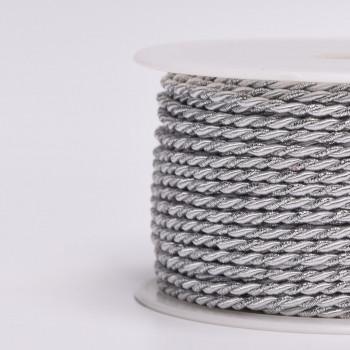 Κορδόνι Τρίκλωνο ασημί 2mm