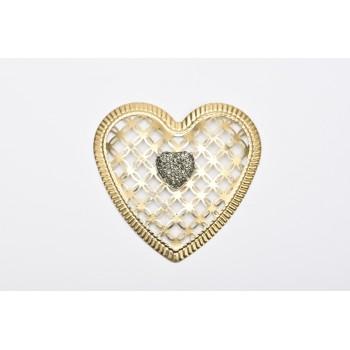 Μεταλλική καρδιά χρυσή