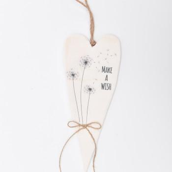 Μπομπονιέρα Ξύλινη καρδιά ''Make a Wish''