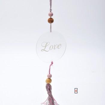 Μπομπονιέρα Plexi Glass Love στρόγγυλο