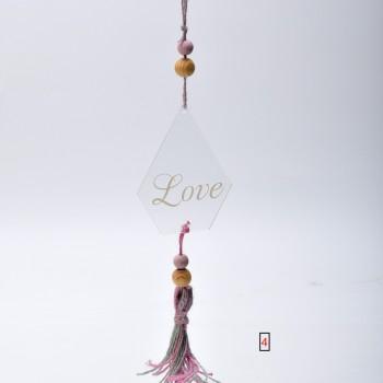 Μπομπονιέρα Plexi Glass Love πολυγωνικό