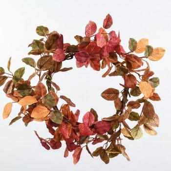 Στεφάνι με φθινοπωρινά φύλλα Φ55