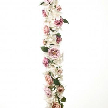 Γιρλάντα ορτανσία - τριαντάφυλλα 90CM