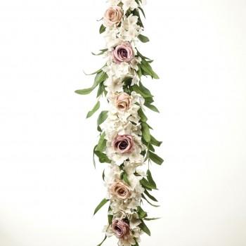 Γιρλάντα ορτανσία - τριαντάφυλλα 120CM