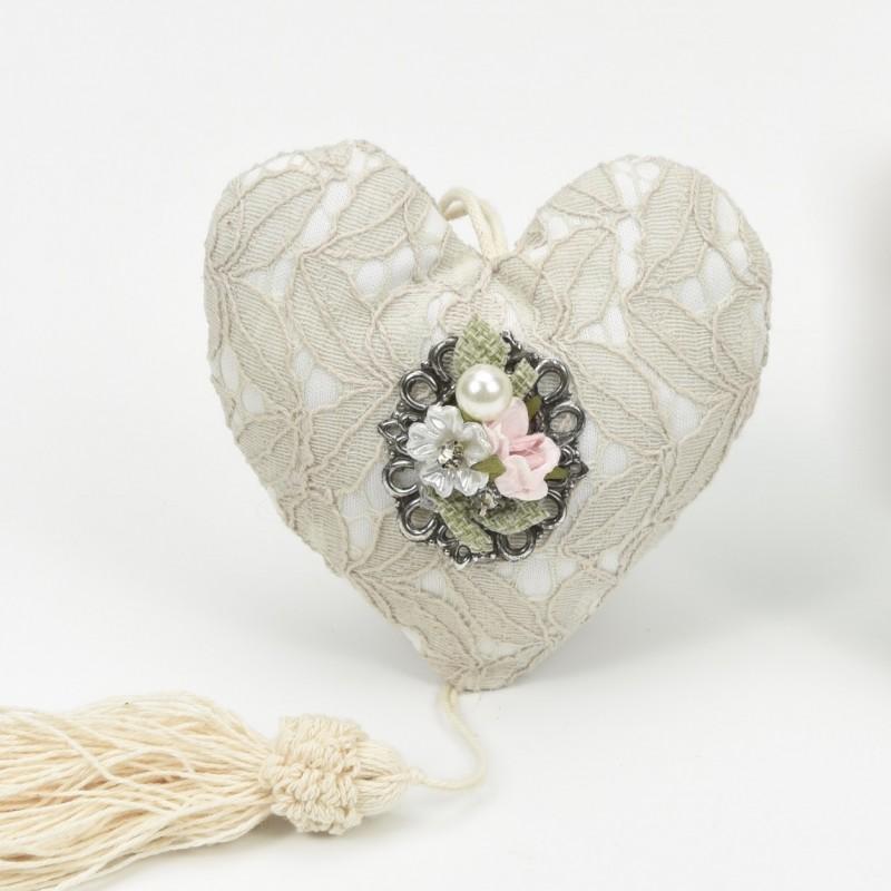 Μαξιλαράκι Καρδιά με Αγκράφα
