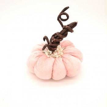 Κολοκύθα ροζ βελούδο στολισμένη