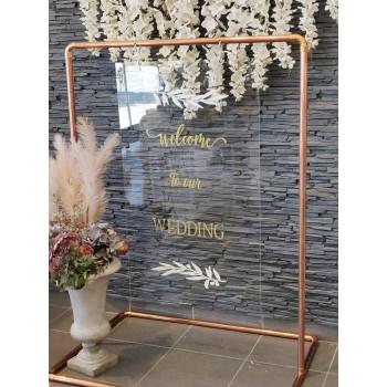 Board PlexiGlass ''Welcome to our Wedding''