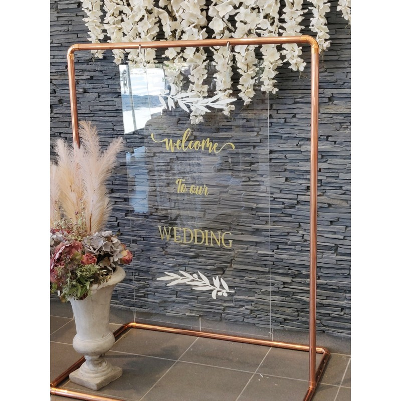 Board PlexiGlass ''Welcome to our Wedding''