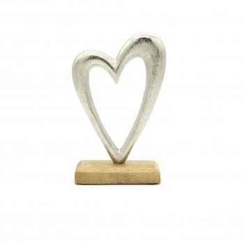 Display stand metallic heart
