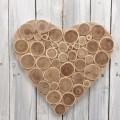 Ξύλινη καρδιά 28cm