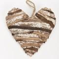 Ξύλινη καρδιά με πούλιες  25cm