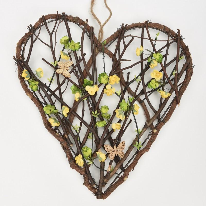 Ξύλινη καρδιά 36cm