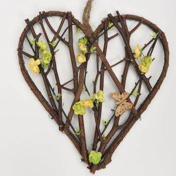 Ξύλινη καρδιά 25cm