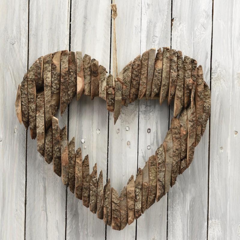 Ξύλινη καρδιά 40cm