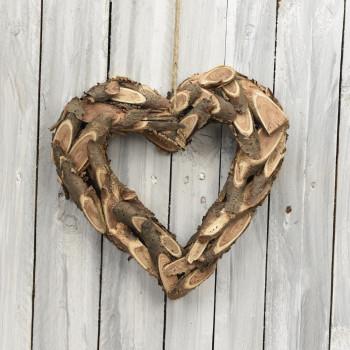 Ξύλινη καρδιά 30cm