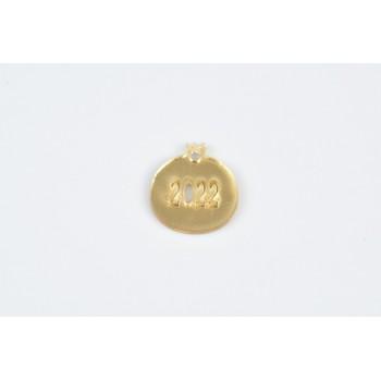 Plexiglass χρυσό ρόδι 2022 3cm 20τμχ
