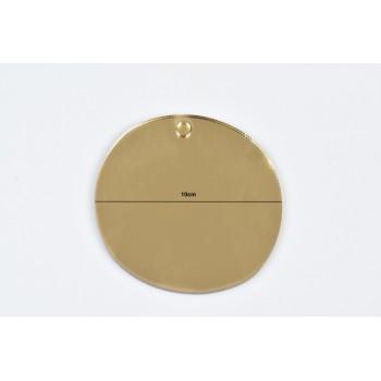 Plexiglass χρυσός κύκλος 10cm