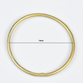 Μεταλλικός κύκλος χρυσός 14cm