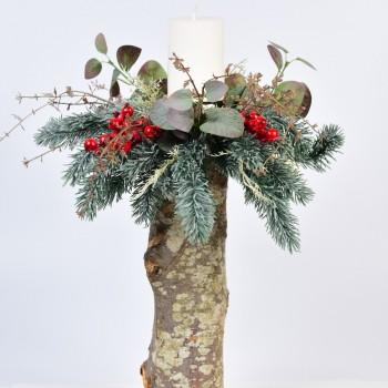 Επιτραπέζιο χριστουγεννιάτικο κηροπήγιο 40cm