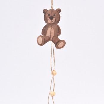 Κρεμαστό στολίδι δέντρου αρκουδάκι  30CM