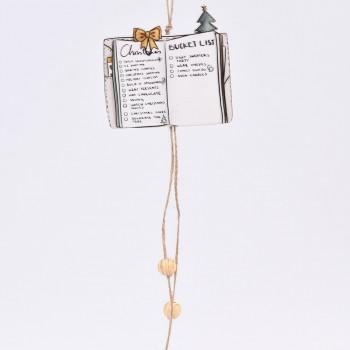 Κρεμαστό στολίδι δέντρου γράμμα με κορδέλες 30CM