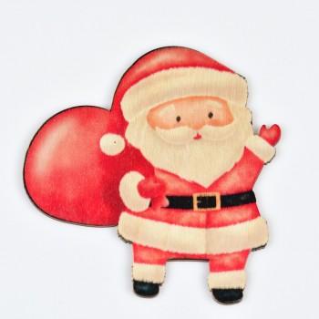 Ξύλινο στολίδι δέντρου Άγιος Βασίλης 3.5X10CM