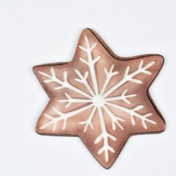 Ξύλινο στολίδι δέντρου αστέρι 10X10CM