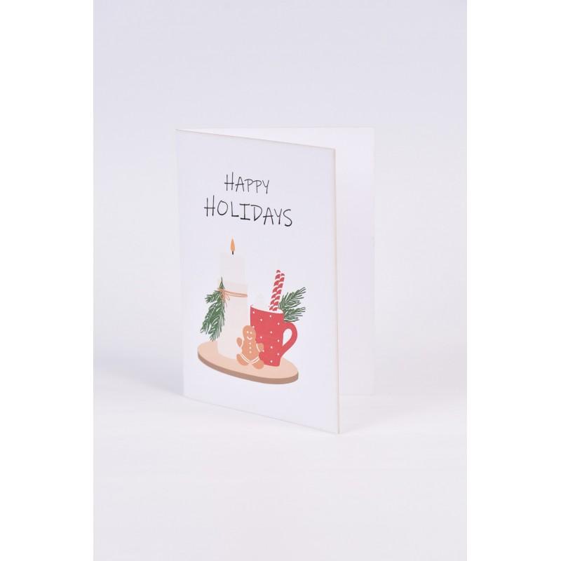 Χριστουγεννιάτικες κάρτες  2 σχεδίων Νο7  10.5X15CM