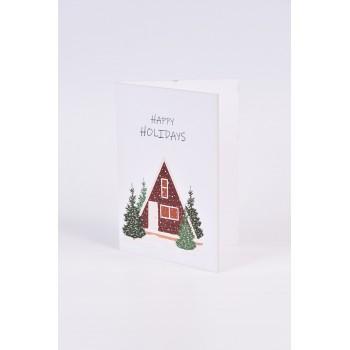 Χριστουγεννιάτικες κάρτες  2 σχεδίων Νο6  10.5X15CM