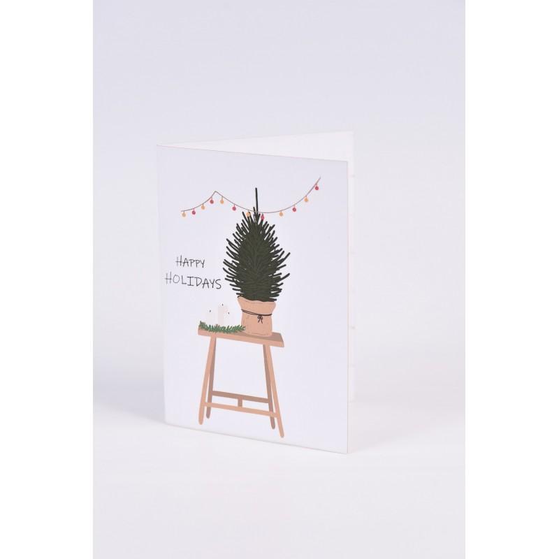 Χριστουγεννιάτικες κάρτες  2 σχεδίων Νο8  10.5X15CM