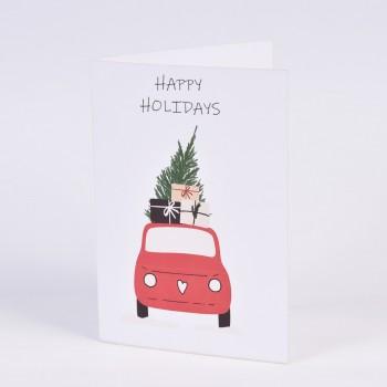 Χριστουγεννιάτικες κάρτες  2 σχεδίων Νο1  10.5X15CM