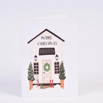 Χριστουγεννιάτικες κάρτες  2 σχεδίων Νο2  10.5X15CM